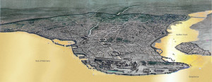 Constantinople Circa 1100. Public Domain Image from Wikipedia.